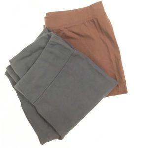 Two pair of leggings. Women size medium.